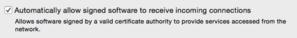 OS X firewall signed software