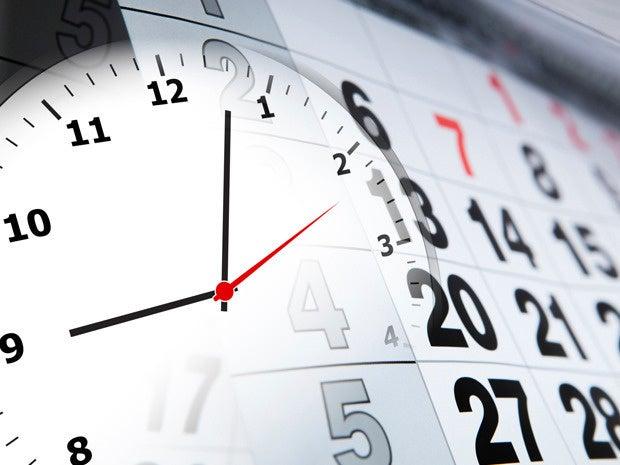 Establish your schedule