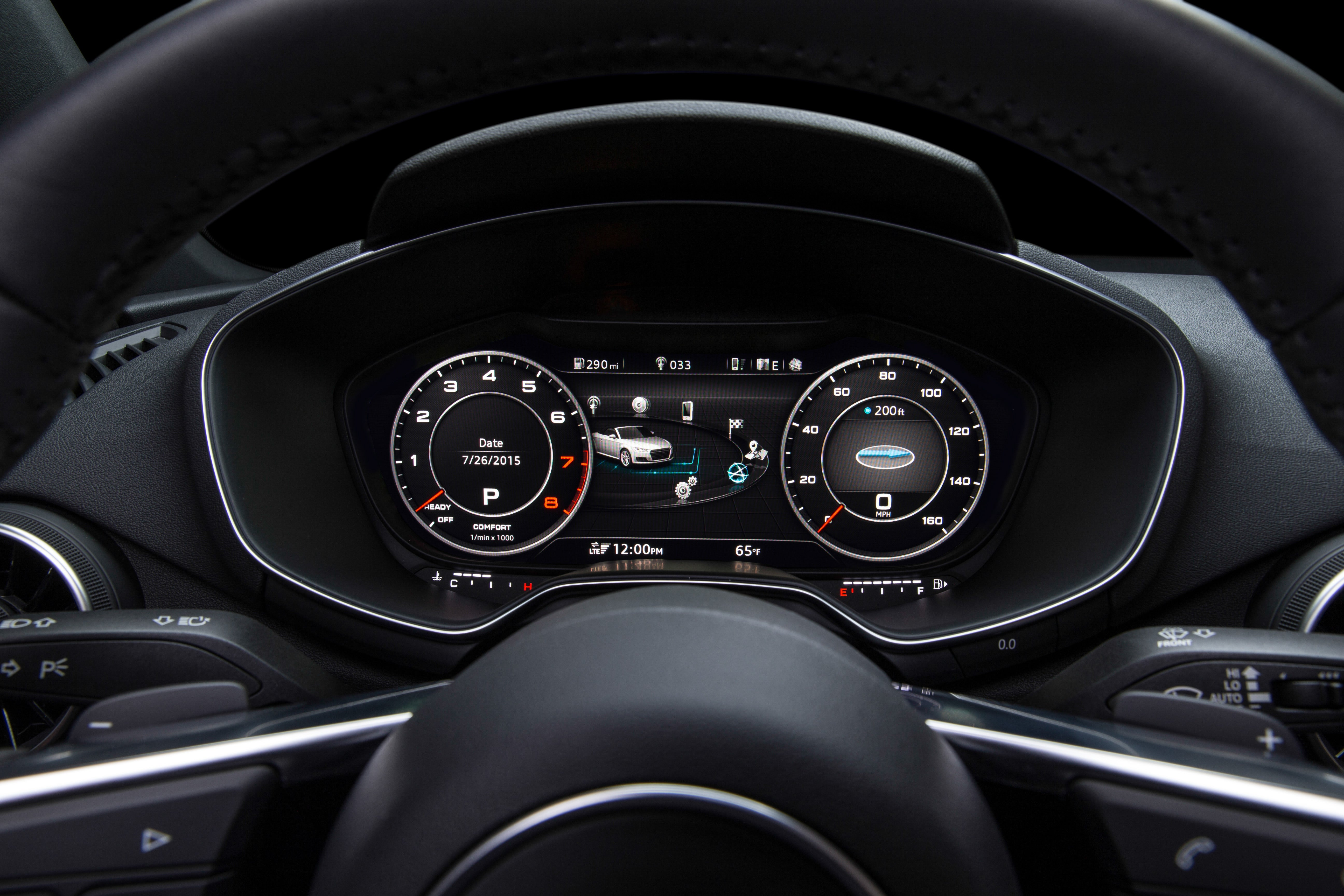 Nvidia Turbocharges The 2016 Audi Tts Virtual Cockpit With Gaming Car Tachometer Circuit Schematic Diagram Speed 60fps Graphics Pcworld