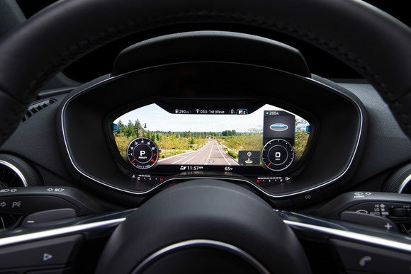2016 audi tt virtual cockpit infotainment view1