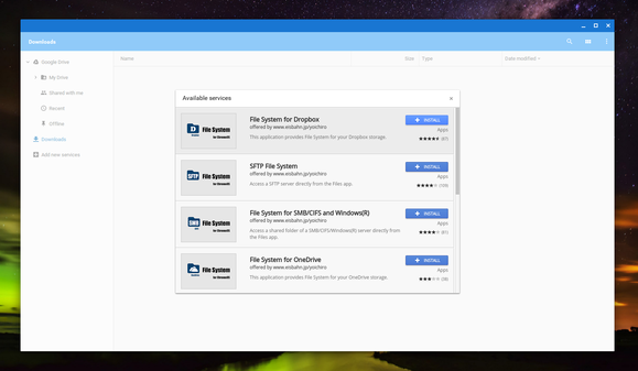 add new services chromebook