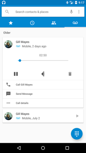 android m visual voicemail