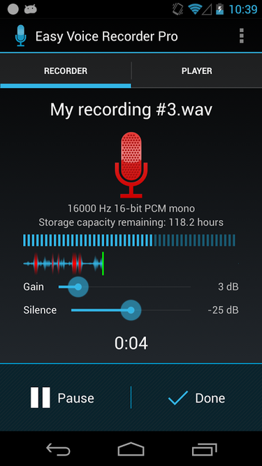 android easy voice recorder pro