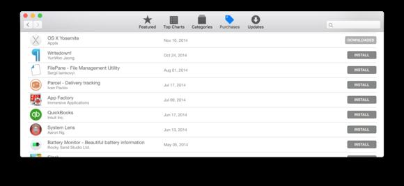 app store yosemite installer