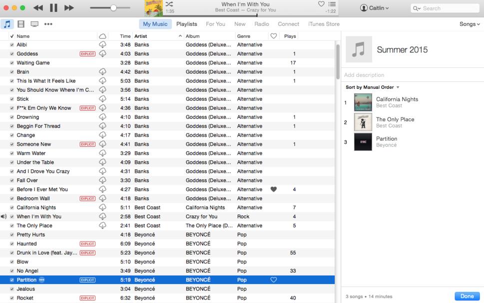 apple music itunes playlist add