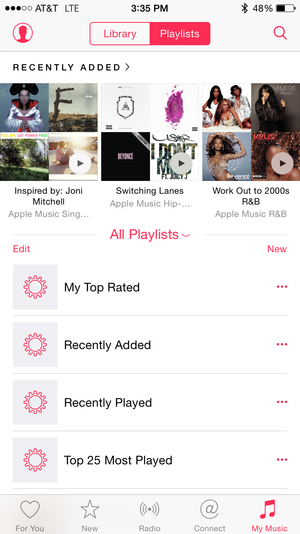 apple music playlist new