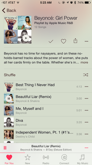 apple music beyonce playlist