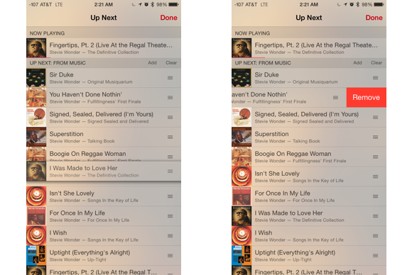 apple music tips reorder up next