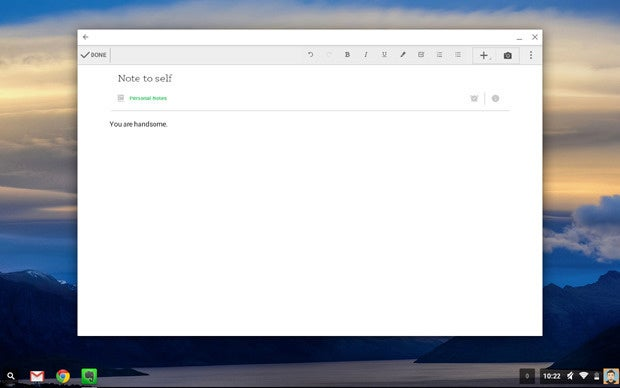 Chrome OS Android Apps: Evernote