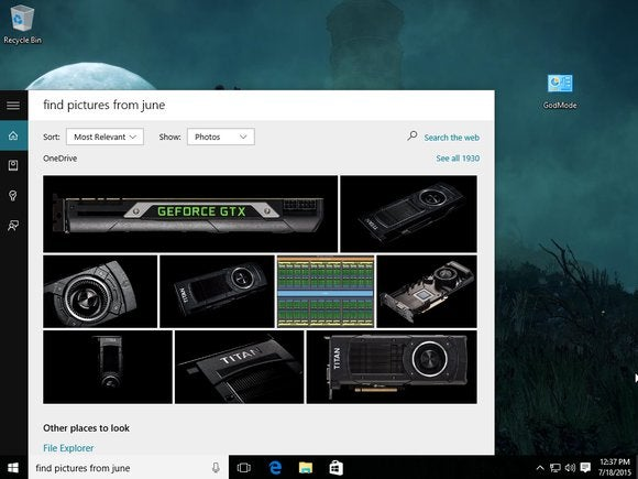 cortana find pictures