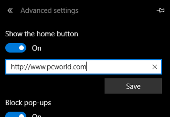 Microsoft edge set your home page