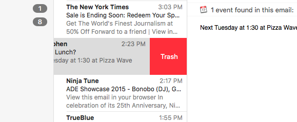 el cap mail trash
