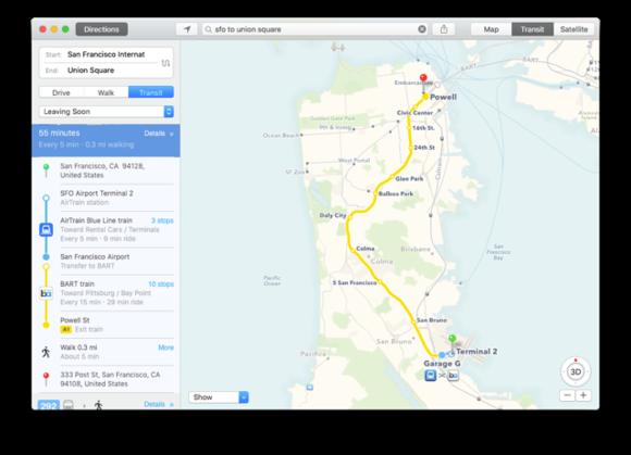 el cap map transit