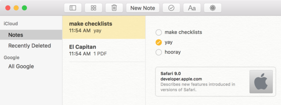 el capitan snell notes checklist