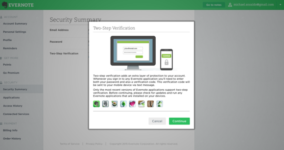 evernote two step