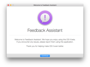 feedback assistant mac intro