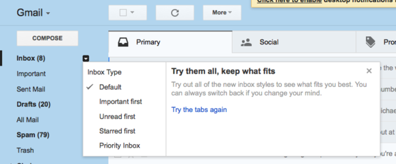 gmail inbox styles