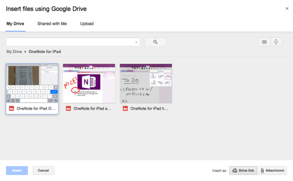 google drive insert files