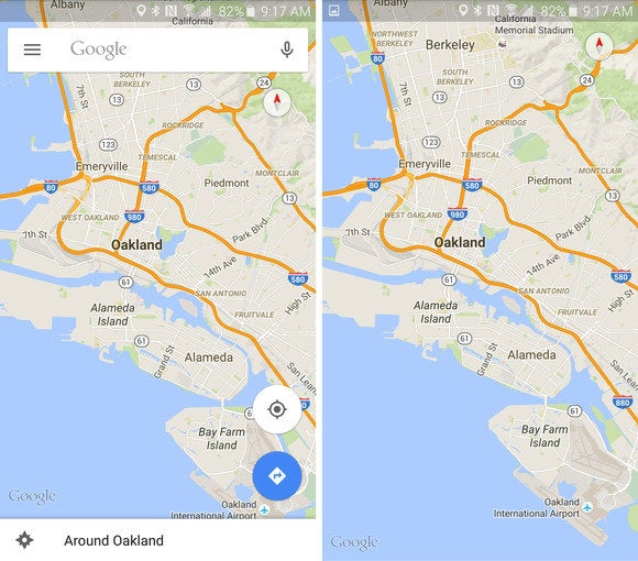 google maps interface clear