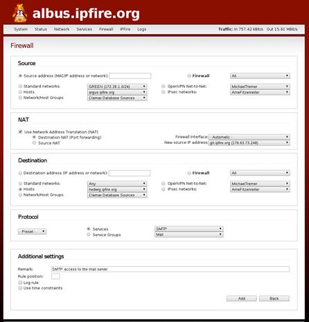 IPFire Web-based configuration interface