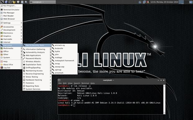 Kali Linux, a penetration testing distro