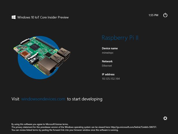 Windows 10 IoT Core Edition splash screen