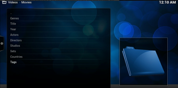DarkELEC's XBMC interface