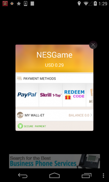 Gunpoder Android malware screenshot