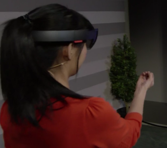 She could soon be trying a Lenovo version of HoloLens