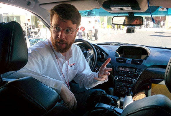 honda virtual reality in car acura mdx interior
