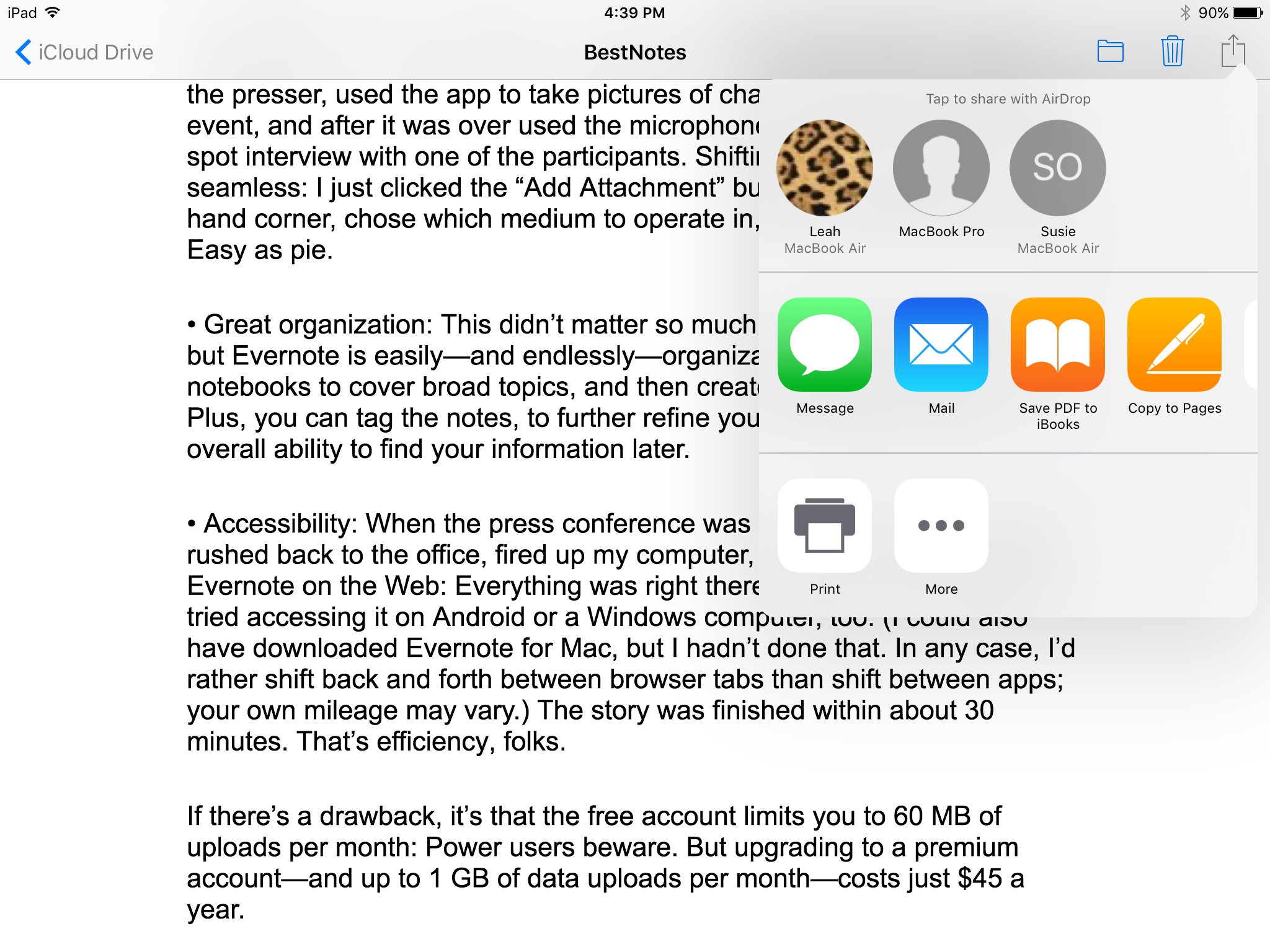 Hands-on with iCloud Drive, a brand-new app in iOS 9 | Macworld