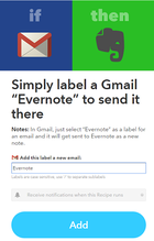 ifttt gmail evernote