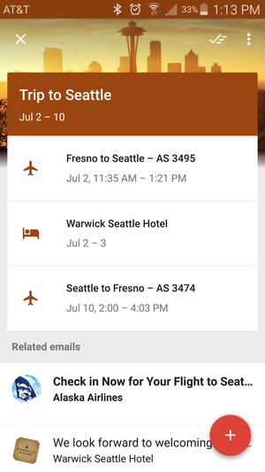 inbox travel itinerary
