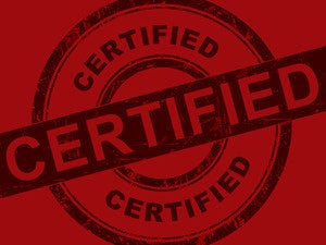 certifications certified certificate