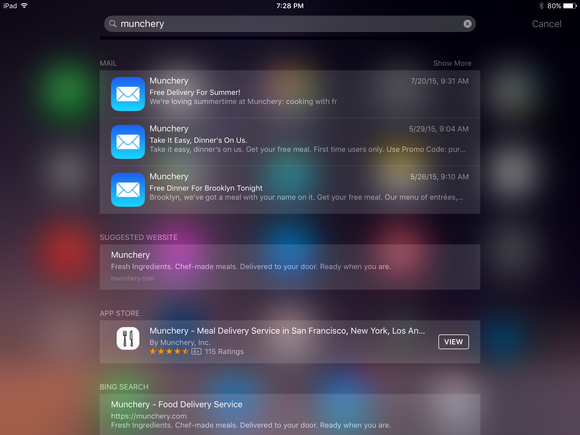 ios 9 mail search