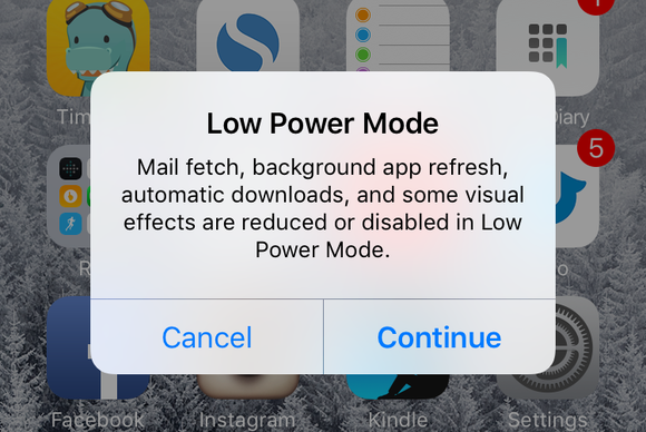 ios9 slideshow low power mode