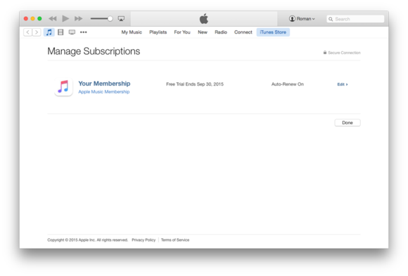 itunes 12 apple music subscription