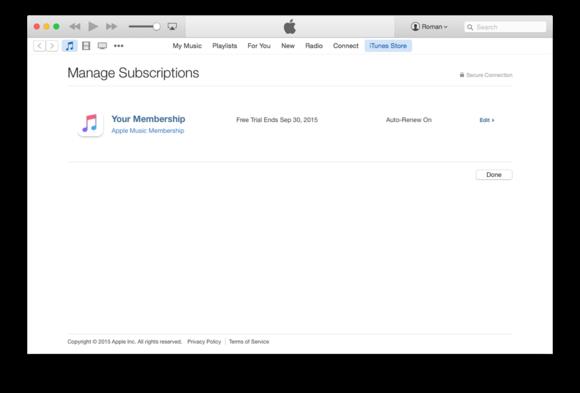 itunes 12 apple music subscription