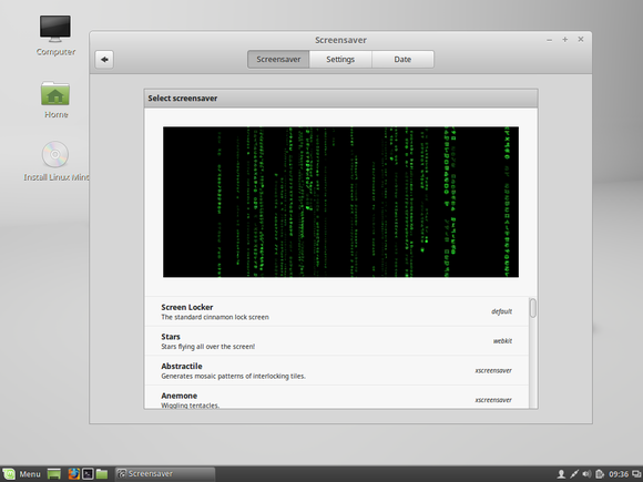 linux mint cinnamon screensaver
