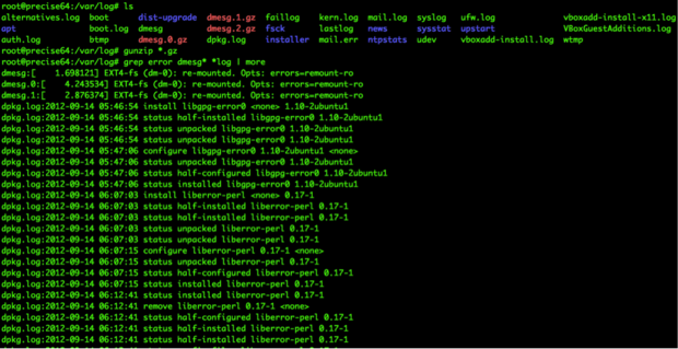 The reality of using grep to manually sift through log files