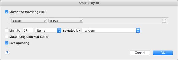 loved smart playlist