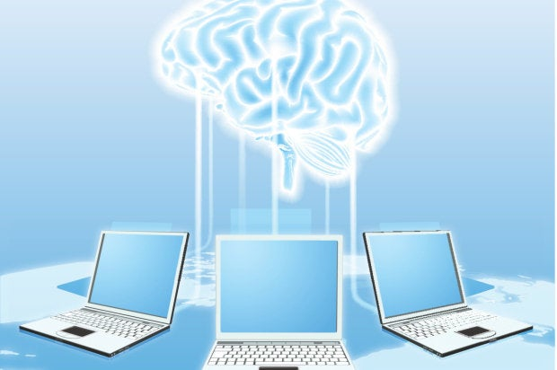 machine learning laptops brain connection