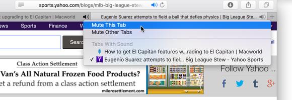 Safari 9 mute tabs