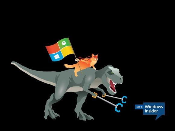 Windows 10 ninja cat T rex