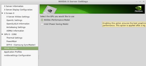 nvidia optimus settings