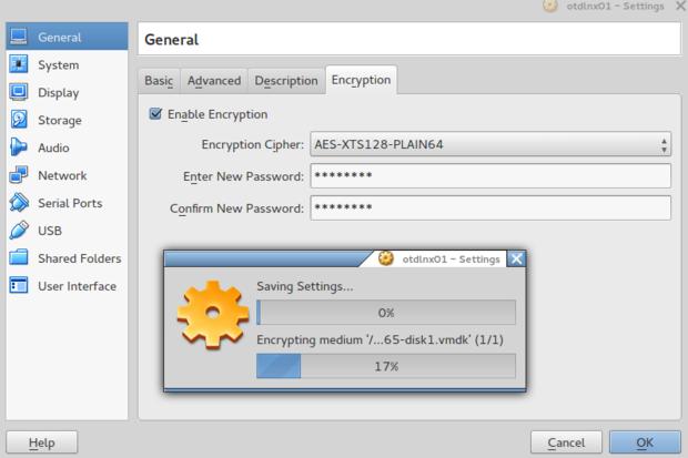 oracle virtualbox encryption