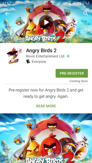 pre register angry birds