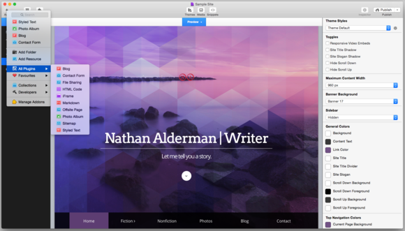 rapidweaver screenshot1