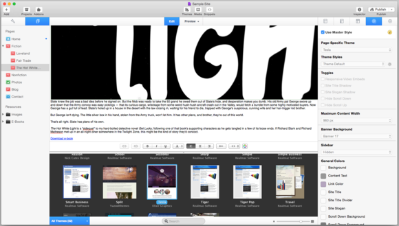 rapidweaver screenshot2