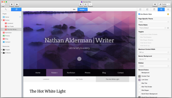 rapidweaver screenshot3